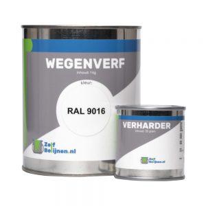 Wegenverf RAL 9016 met verharder
